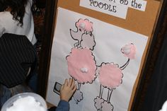 "Children's Birthday Parties - Paris Eiffel Tower Birthday Game ""Stick the poof on Poodle""=Paris Eiffel tower"