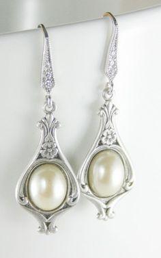 Art nouveau earrings, Vintage style