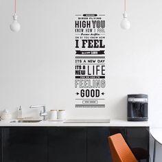 Typographic wall decal, Nina Simone