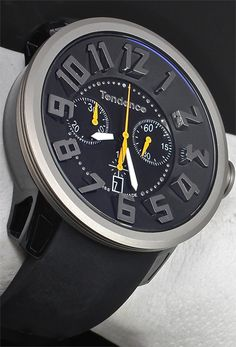 Tendence Black Titanium Chronograph - Cool Watches from Watchismo.com