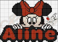 Minnie Baby, Mickey Minnie Mouse, Cross Stitch Baby, Cross Stitch Patterns, Name Art, Pattern Art, Beading Patterns, Tigger, Disney Characters