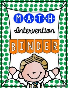 With the shift towards RTI (Response to Intervention) it is more important than ever that we as educators provide targeted instruction for our at-risk students.  But, who has the time to print endless center materials, laminate them, cut them out, and differentiate all of these for all of your students???  This intervention binder is the perfect solution for targeted instruction in a minimal amount of time!  RTI, Intervention, Math, Mathematics, No Prep, Instruction
