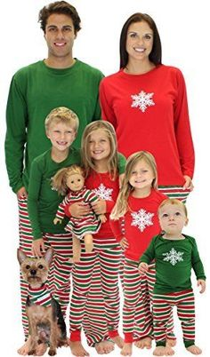 Sleepy time Pjs Christmas Stripes Family Matching Pajamas 3-6 Months Matching  Family Christmas Sweaters 42c2da807