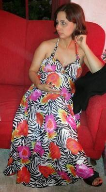 Floral - animal print dress