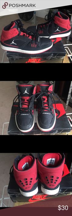 Nike Air Jordan's Still in good condition. Bought from another posher but they didn't fit. Jordan Shoes Athletic Shoes