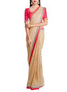 Priti Sahni   Copper Shimmer Saree at strandofsilk.com