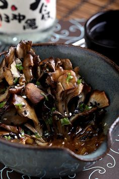 Roasted Maitake Mushrooms in Sesame-Miso Broth with Celery ans Scallions (sugar-free, grain-free, starch-free, switch sherry to sherry vinegar) Vegan Vegetarian, Vegetarian Recipes, Cooking Recipes, Healthy Recipes, Vegetarian Barbecue, Primal Recipes, Vegetarian Dinners, Healthy Foods, Soup Recipes