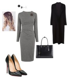 """Work"" by cgraham1 on Polyvore featuring Whistles, Christian Louboutin, Bling Jewelry, Prada, Amour and Yohji Yamamoto"
