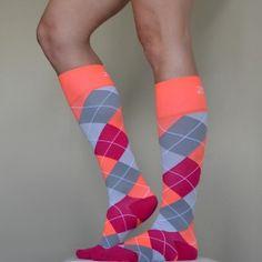 Energetic Argyle - Compression Socks by Lunatik Athletiks