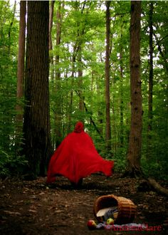 Red Riding Hood The Wolf is Coming 5x7 Fine Art Photograph. $12.00, via Etsy.