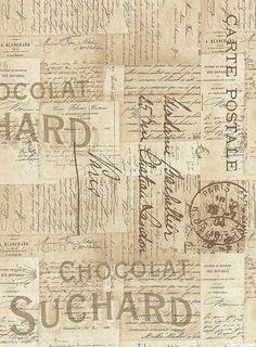 Eclectic Elements - French Script - Parchment: