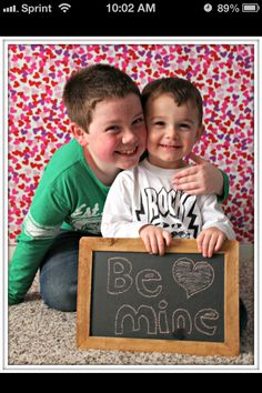 Brothers Valentines day photography
