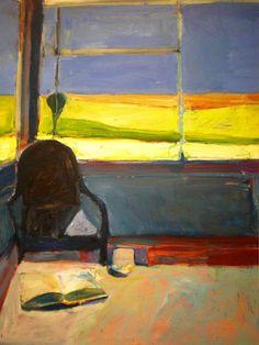 Richard Diebenkorn - Interior with a Book, 1959 Willem De Kooning, Richard Diebenkorn, Franz Kline, Jasper Johns, Art And Illustration, Robert Motherwell, Jackson Pollock, Figure Painting, Painting & Drawing