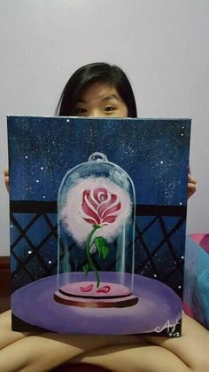 Beauty and The Beast Rose Canvas
