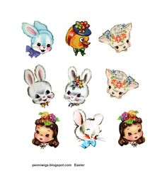 Penniwigs: Free Graphics Printables Paper Fun Lore and More: DIY Vintage-Styl - Fun Graphics - Ideas of Fun Graphics - Penniwigs: Free Graphics Printables Paper Fun Lore and More: DIY Vintage-Style Chenille Figures for Easter or Any Holiday: Tutorial Vintage Easter, Vintage Valentines, Valentine Crafts, Easter Crafts, Holiday Crafts, Vintage Christmas, Easter Food, Prim Christmas, Easter Bunny