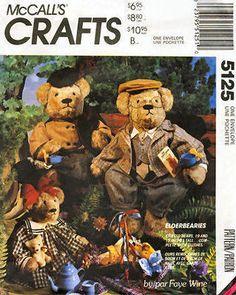 McCall's 5125 Elderbearies Stuffed Bears and Clothes