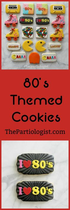 The Partiologist: Themed Cookies! Iced Cookies, Cut Out Cookies, Cute Cookies, Brownie Cookies, Royal Icing Cookies, Sugar Cookies Recipe, Cookie Bars, Kitchen Aid Recipes, School Cake