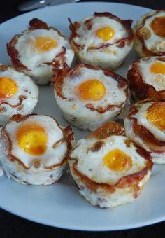 Une recette super simple mais qui a son petit effet visuel :) Idéal pour le petit déjeuner ou un brunch! Ingrédients œufs lard en tranches fines poivre et sel Préparation Dans une poêle, pré…