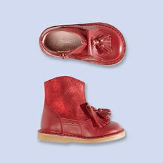 Fringed ankle boots - Girl - #APPLE RED - Jacadi Paris #pinAtoZ