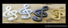 Wooden Treble Clef Wall Hanging by banished on Etsy