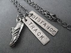 RUN TRACK DISTANCE Necklace Track Running Necklace by TheRunHome