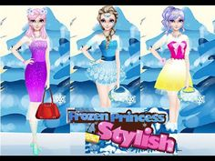 Frozen Dress-up Games - Frozen Elsa Princess Stylish