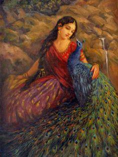Lord Krishna Images, Radha Krishna Pictures, Krishna Photos, Indian Women Painting, Indian Art Paintings, Radha Rani, Krishna Radha, Krishna Painting, India Art