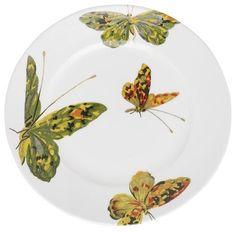 Flora + Fauna Dessert Plate Set, Butterfly