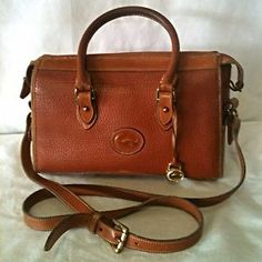 vintage dooney and bourke small crossbody bag   ... Dooney  Bourke Brown Leather Crossbody Satchel Handbag Purse Vintage