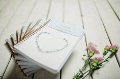 Dziennik Wdzięczności, autorski projekt w formacie A5, notatnik, pamiętnik. Place Cards, Container, Place Card Holders