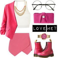Love Me? #fashionstyle #pink #skort #polyvore