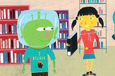 Bob the Alien Discovers the Dewey Decimal System