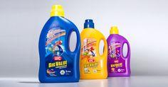 UIC Big Value liquid detergent packaging design