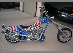 Custom Built Motorcycles : Other Old School Chopper, Custom Choppers, Belt Drive, Harley Davidson Motorcycles, Cool Bikes, Red White Blue, American Made, Used Cars, Cool Cars