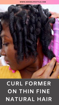So in this video i am going to share with you my very first time of trying curlformers on my thin/fine natural hair. Fine Natural Hair, Natural Hair Care Tips, How To Grow Natural Hair, Natural Hair Twists, Natural Hair Updo, Be Natural, Natural Hair Growth, Natural Hair Styles, Deep Conditioner For Natural Hair