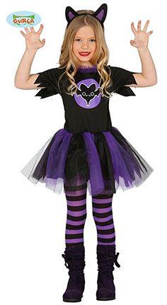Fledermaus Kostüm für Mädchen Gr. 98-146, Größe:110/116