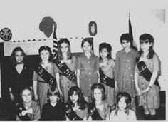 Troop of Junior Girl Scouts about 1970.