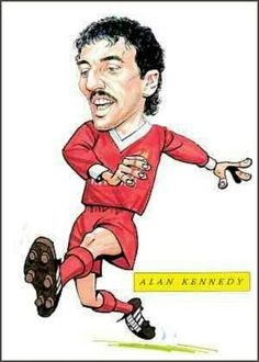Alan Kennedy of Liverpool in cartoon mode.