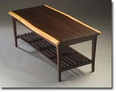 solid ash and zebra wood coffee table design of bandwidth series