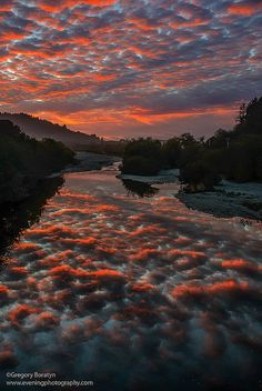 Sunset near Eureka; photo by Gregory Boratyn