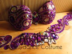 Purple Bellydance Costume