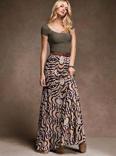 Victoria's Secret - Printed Maxi Skirt