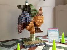canstruction flower - Google Search