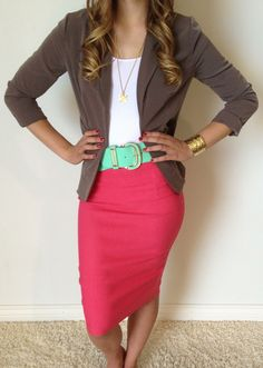 Miss Corporate Pencil Skirt | SexyModest Boutique