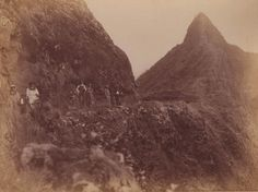 The Pali, Oahu HI. Before roads in the early 1900's