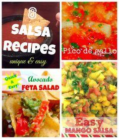 8 Salsa Recipes including Easy Mango Salsa