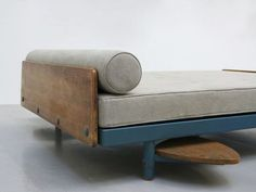 French furniture designer Jean Prouve was of the philosophy that 'design [was] a moral issue'. French Furniture, Modern Furniture, Home Furniture, Furniture Design, Blue Foundation, Pierre Jeanneret, Mid Century Furniture, Sofas, Couches