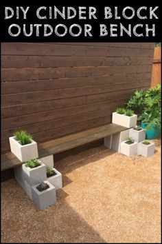Cinder Block Outdoor Bench is Simple, Functional, And Easy to Relocate if You Need To
