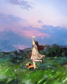 Illustrations By Korean Artist Show The Happiness And Tranquility Comes With Solitude Art Anime Fille, Anime Art Girl, Forest Illustration, Cute Illustration, Art Mignon, Forest Girl, Diy Papier, Poster S, Korean Artist