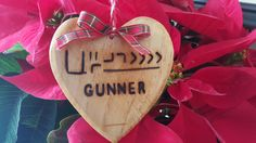 BLM Mustang branded heart ornament from The Horse Mutterer